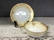 12-0019B - Noritake Garland cream soup set (2)