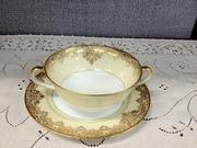 12-0019B - Noritake Garland cream soup set