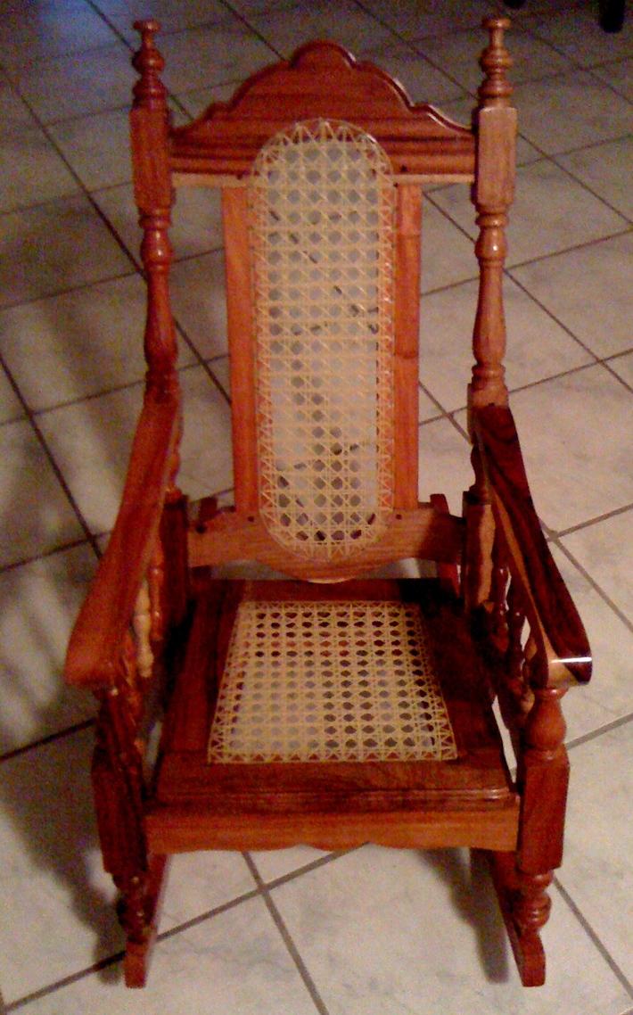 hand-crafted cedar rocking chair