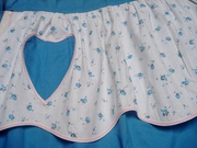 Tiered Blue Floral Apron