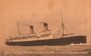 1920s postcards steamship Homeric