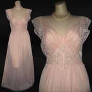 Vintage Goddess Nylon and Chiffon Nightgown