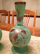 12-0119 - Pair of blue Bristol vases - lot 809 (4)