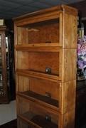Antique Viking Standard Golden Oak Lawyer Barrister Stacked Bookcase Circa 1920