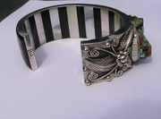 Tradditional Silver work on this incredible Navajo Silver Cuff