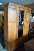 Beautiful Antique Oak Armoire From Golden Oak Era. Super Clean Ca. 1900 - Copy