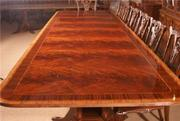 American Hand Crafted Large Dining Conference Table 16, Ft Long - Copy