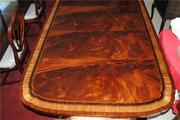 American Made Large Mahogany Dining Table 12 ft Scalloped Corners - Copy