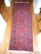 Persian Karacheh Iranian Hand Woven Wool Rug Runner 26 inch x 82 inch