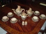 Rare Ornate Hand Painted Japanese Satsuma Earthern Ware Tea Set