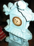Collectible Rare La Colombiere Blue Ceramic Clock Tower Made In Germany
