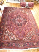 Heriz Iranian Hand Woven Persian Wool Rug 120 x 84 Thick