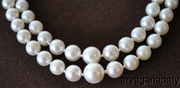 Double Strand White Graduating Pearl Necklace