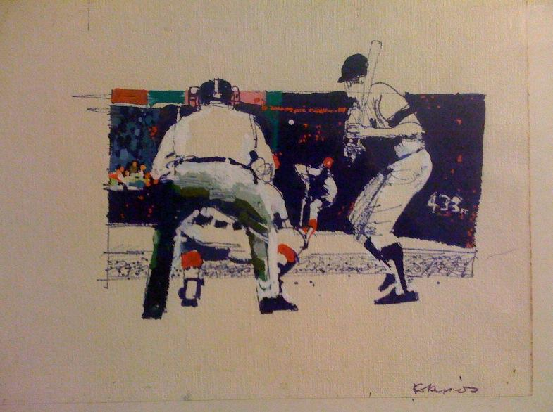 Original Kokonis Illustration art - baseball