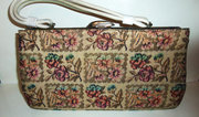 Carpet Bag Needlepoint Tapestry Handbag Purse