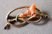 """""""1920's""""  Gold filled set with Coral Pin"""