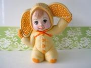 SOLD Vintage Bunny Rabbit Baby Figurine