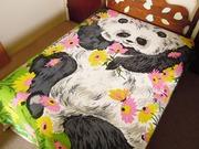SOLD Vintage 1980s Panda Bear Bedspread