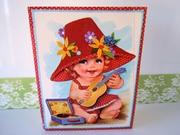 Vintage Oversized Unused Greeting Card Baby Girl