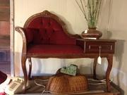Circa 1950 - Oak Telephone Bench