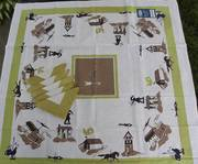 Broderie Weather Vane Tablecloth and Napkins
