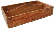 Primitive Wooden Cutlery Utensil Tool Tray