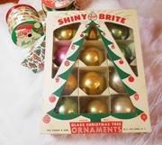 Vintage mixed Shiny Brite Ornaments  1