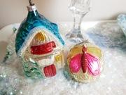 Vintage German Glass Ornaments