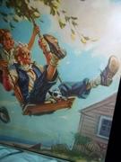 Grandpa swinging Hy Hintermeister 1940-50's art  print