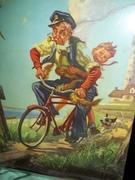 Grandpa on Red Bike Billy Hintermeister art print