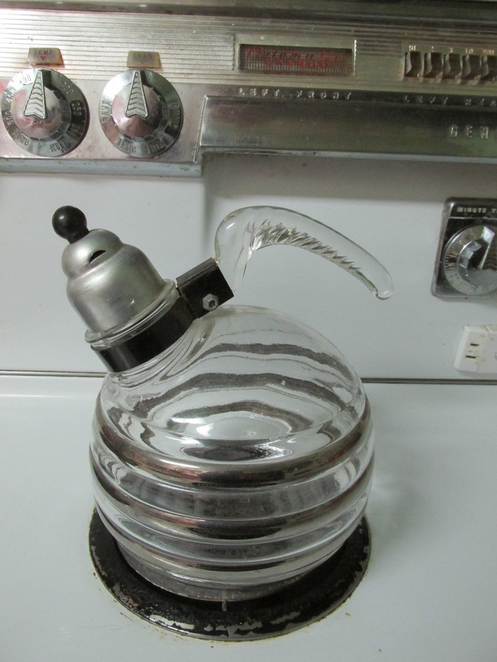 Glasbake tea kettle