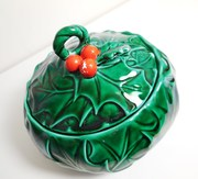 Holly Berry Candy Dish - Lefton