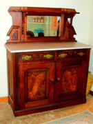 Victorian sideboard with mirror and marble top