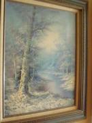 Oil on canvas signed and framed