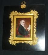 18th century rare miniature the memorist by lorenzo thewenti