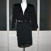 Vintage Fringe Jacket & Skirt