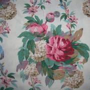 Vintage 1930s Cotton Rose Fabric
