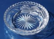 Hakes Gravic Cut Glass Bowl American Brilliant Intaglio 1890-1910 #1