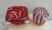 Murano Red Glass Bowls