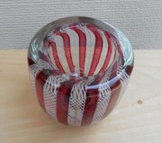 Murano Red Glass Bowl