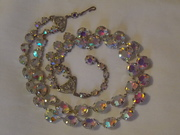 1950s, glass AB necklace (a)