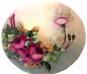 limoges deep rose plate