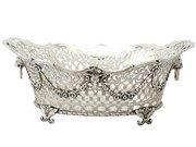 Sterling Silver Fruit Basket - Antique Victorian