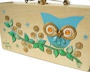 Vintage Enid Collins Wooden Owl Handbag