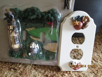 Golf and child's 3-D switch plates