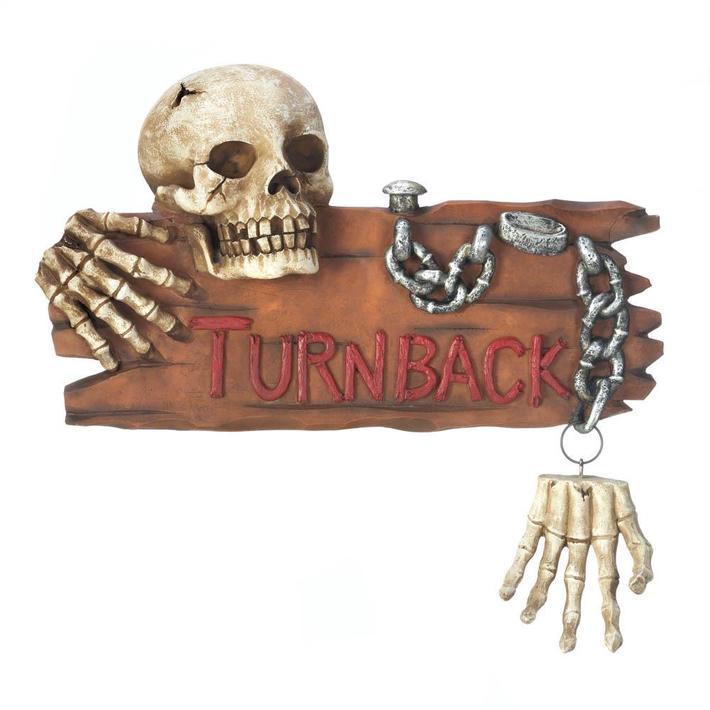Halloween skull Warning