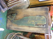 old wooden whale sign