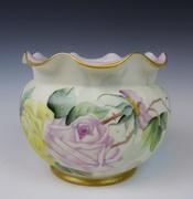 Antique Fluted Vase, A. Klingenberg, Limoges