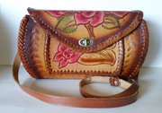 Beautiful Tooled Leather with Red Roses