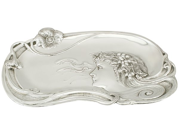 Antique Edwardian Sterling Silver Dressing Table Tray